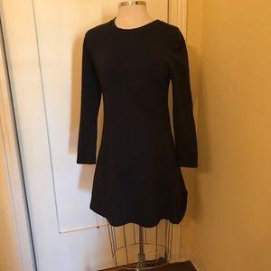 TRF Zara black tunic dress sweatshirt material M/L